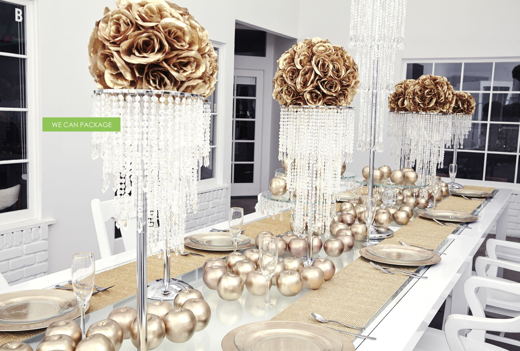 Gold Wedding Decorations by We Can Package | Diamonds Christmas ...