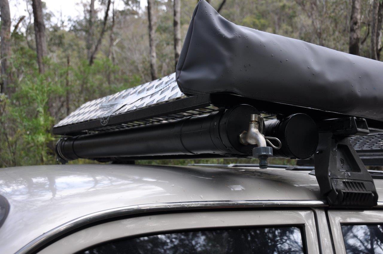 PVC water tank on the roof racks | FJ Cruz mods ...