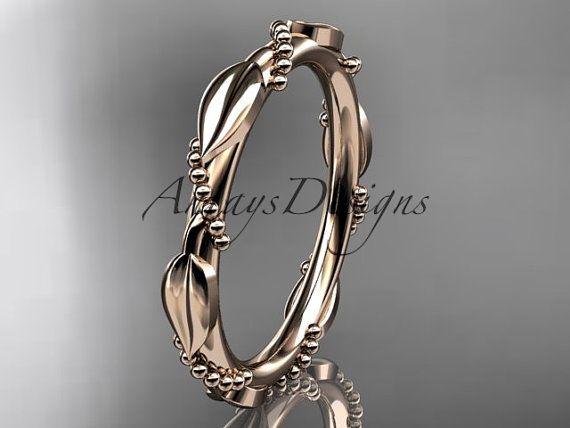 14 k rose gold Ehering Verlobungsring Ehering von anjaysdesigns