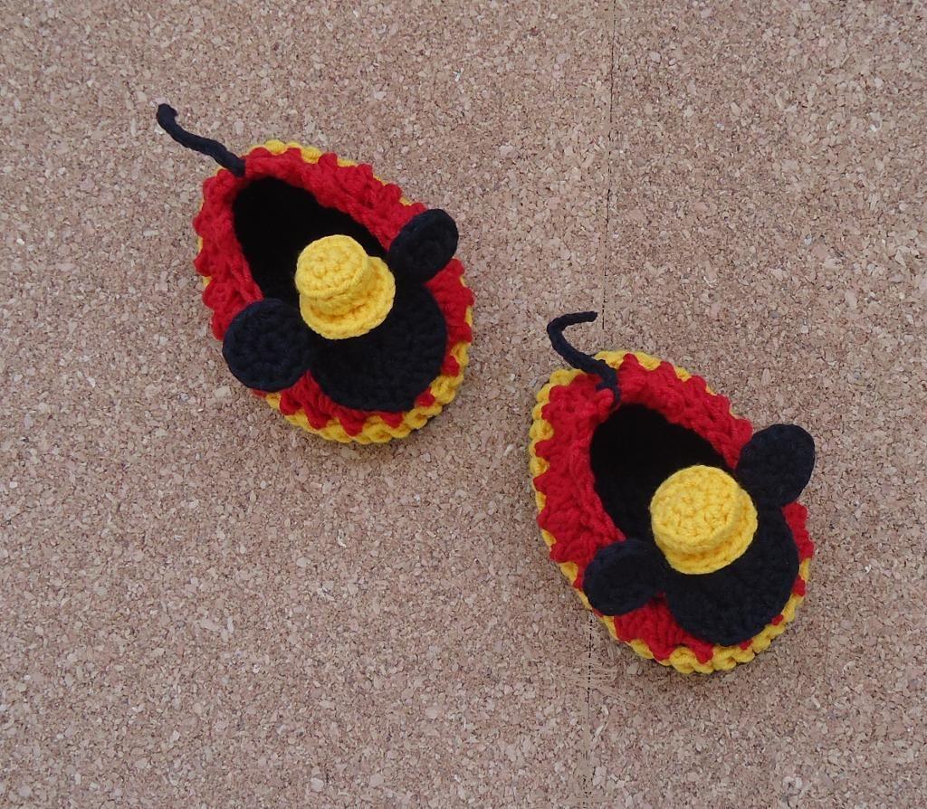Mr.Mickey Crochet Shoes Pattern