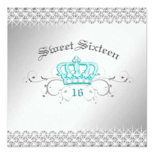 Review 311-Queen for a Day | Sweet Sixteen Turquoise 5.25x5.25 Square Paper Invitation Card In our offer link above you will see
