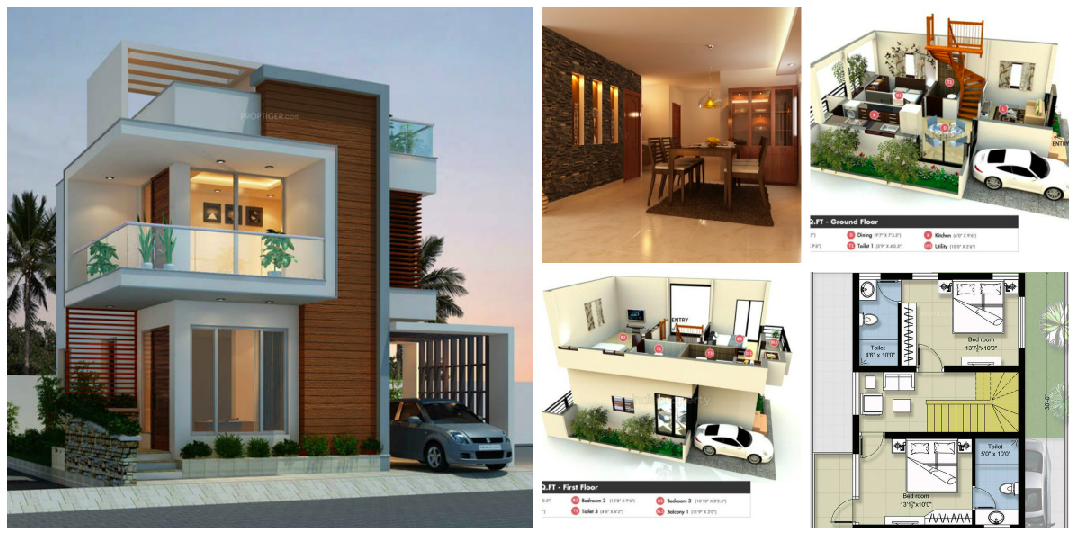 25 Lakhs Cost Estimated Double Storied Home Amazing Architecture Magazine House Architecture Design Row House Design New House Plans