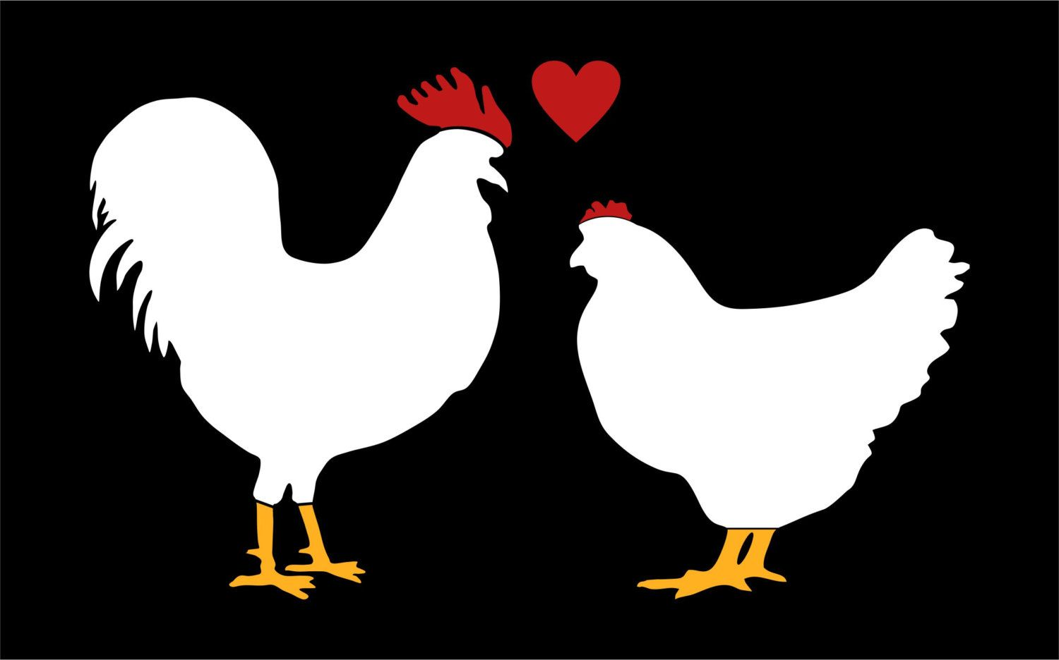 Popular items for love roosters on Etsy | Roosters/Chickens ...