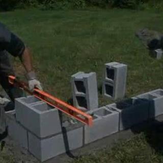 Build A Concrete Block Wall Concrete Blocks Concrete Block Walls Block Wall