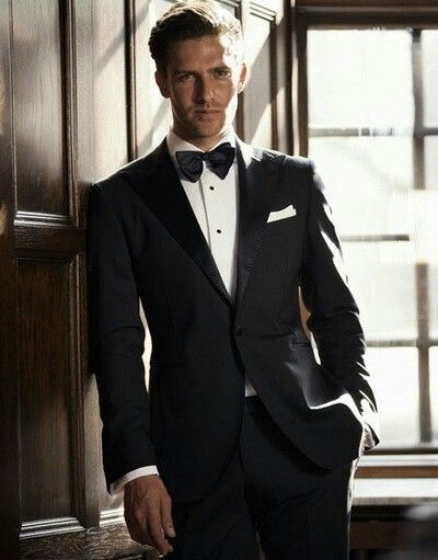 Black Suit Bow Tie | Black/White & Red Wedding | Pinterest | Black ...