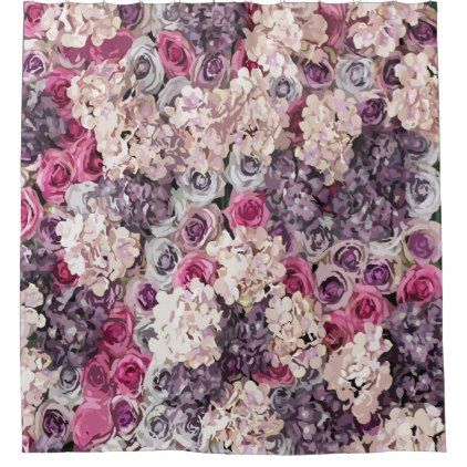 Abstract Floral Shower Curtain Zazzle Com In 2020 Diy Flower Wall Floral Shower Flower Wall Wedding