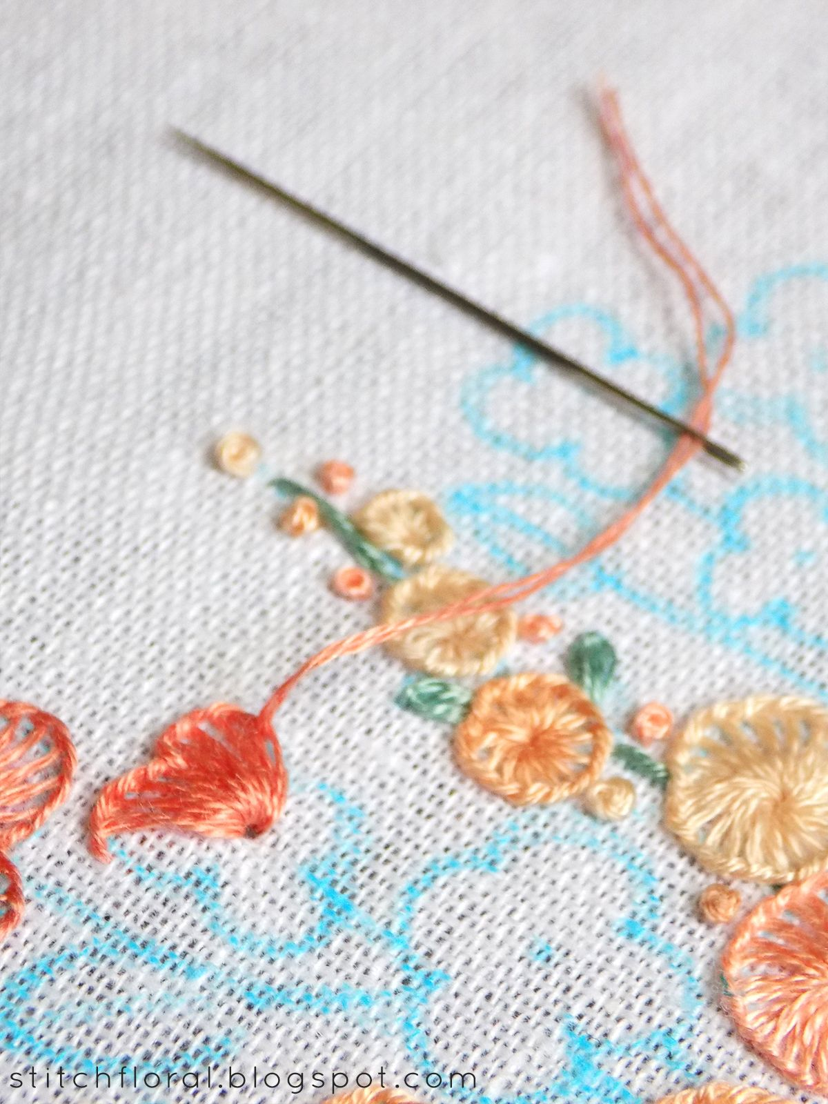 images Buttonhole Stitch Tutorial - Photos and Instructions