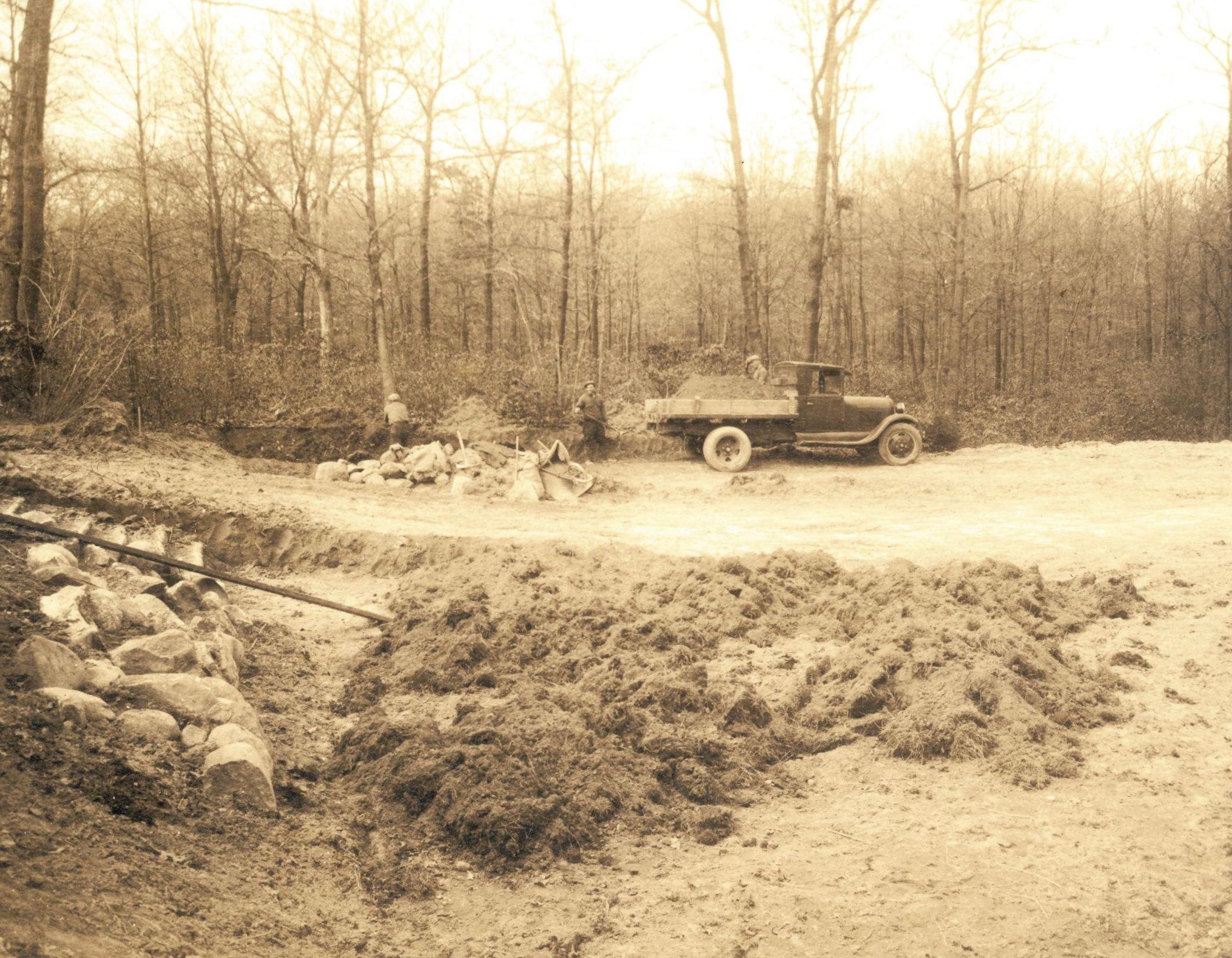 Construction sunwood estate circa 1918 old field new