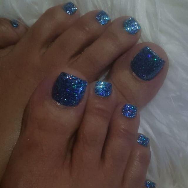 glitter silver unique nails