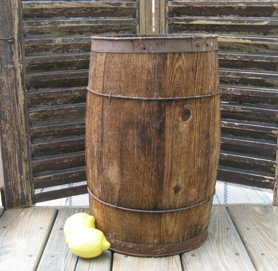 Vintage Small Wooden Barrel Small Wooden Barrels Home