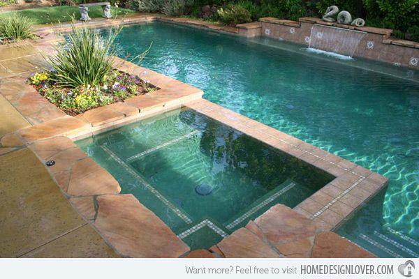 15 Fabulous Swimming Pool With Spa Designs Backyard Pool