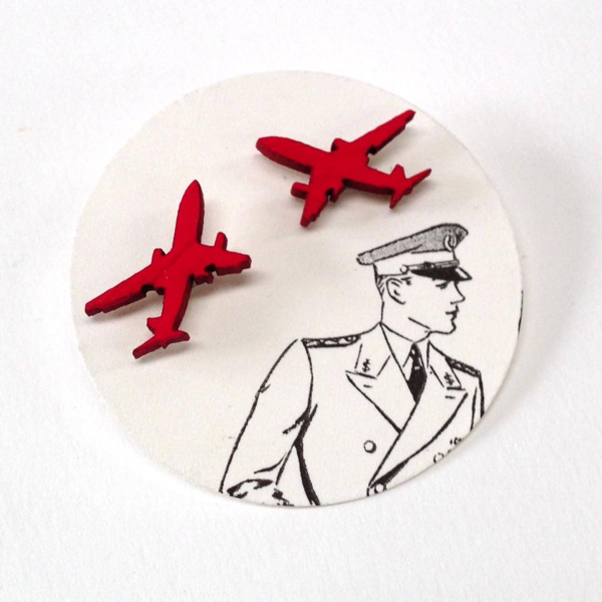 aeroplane earrings // orange | NOOKROAD AUD $12.00