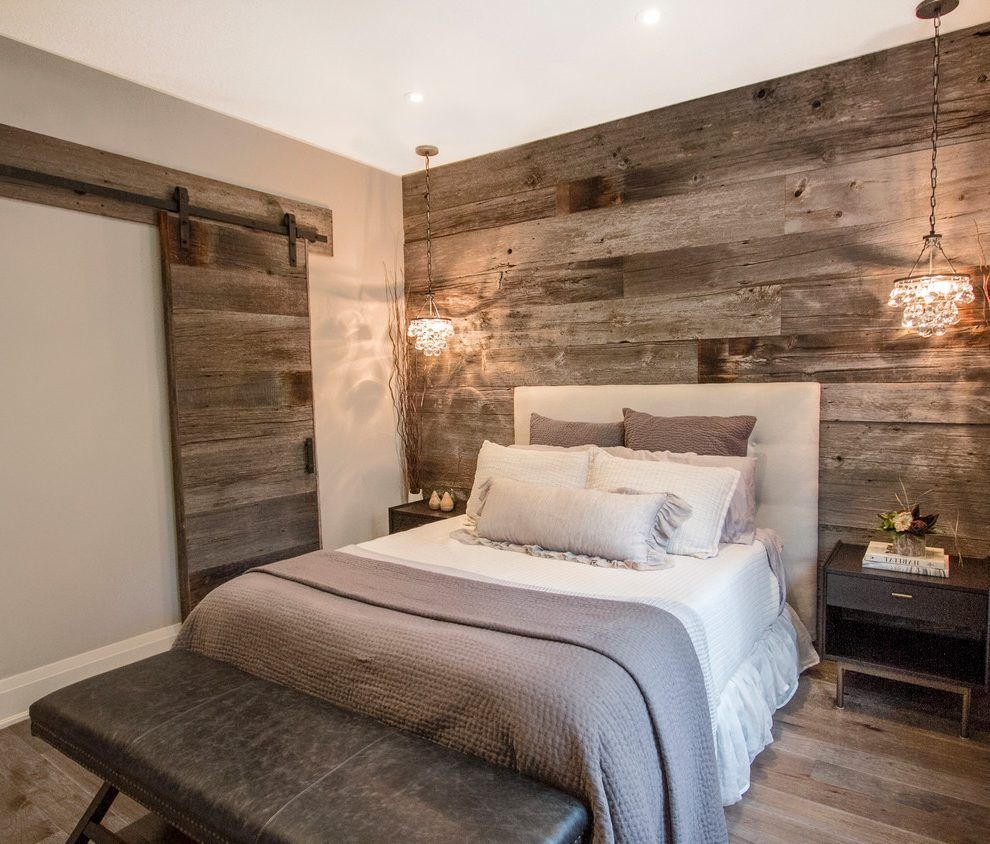 Bling lights farmhouse bedroom interior designs with gray