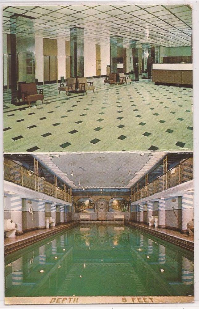 New York City Postcard SHELTON TOWERS HOTEL W/ Lobby
