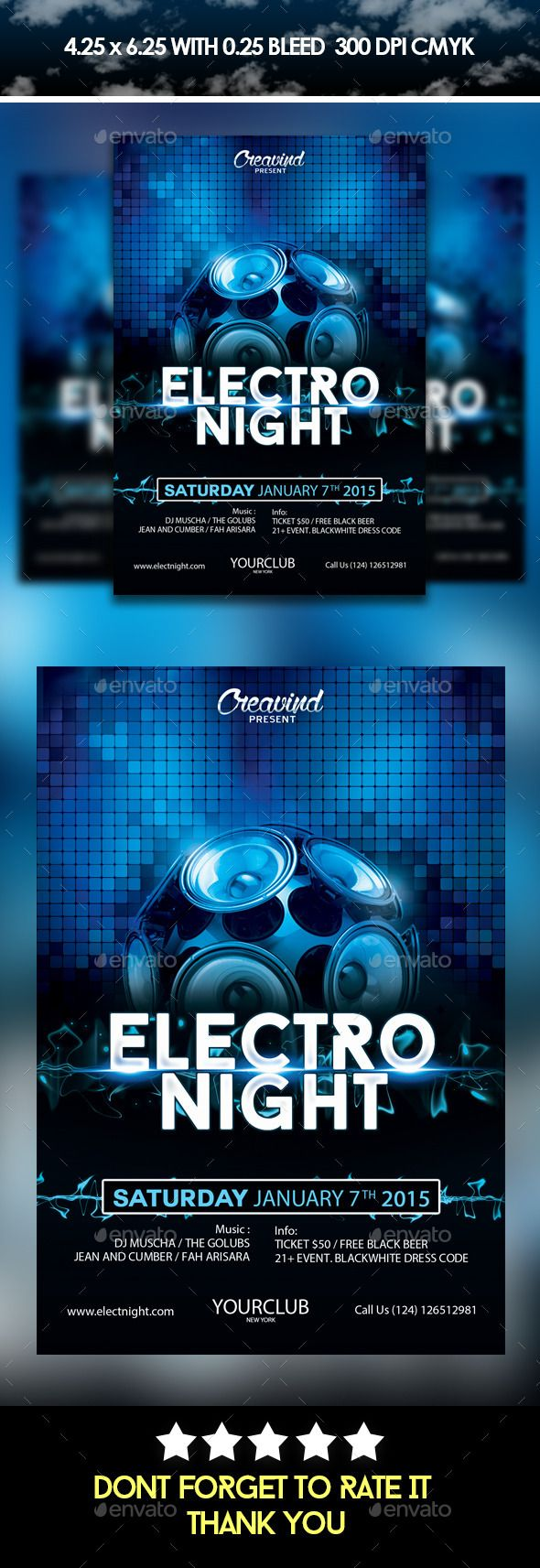 ElecroNightFlyer  Flyers Flyer Template And Fonts