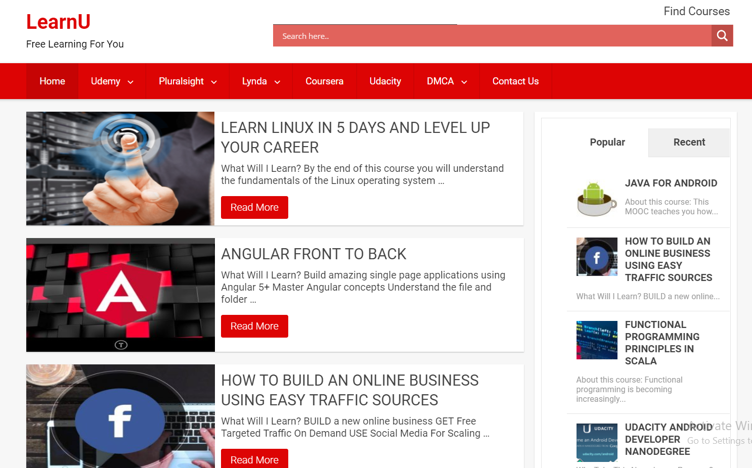 Download Free Udemy,Udacity,Lynda,Pluralsight,Coursera