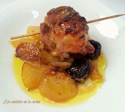 Los sentidos en la cocina: CONTRAMUSLOS RELLENOS AL HORNO