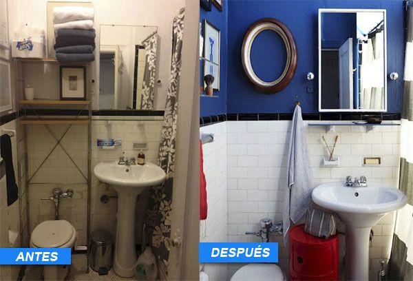 5 buenos ejemplos de c mo reformar un ba o por muy poco dinero decorar ba os antes despu s y - Amueblar un piso por poco dinero ...