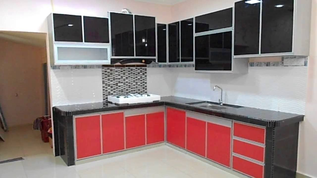 Fully Aluminium Kitchen Cabinet with 3G Glass Doors (top) and ... for Aluminium Glass Kitchen Cabinets  585hul
