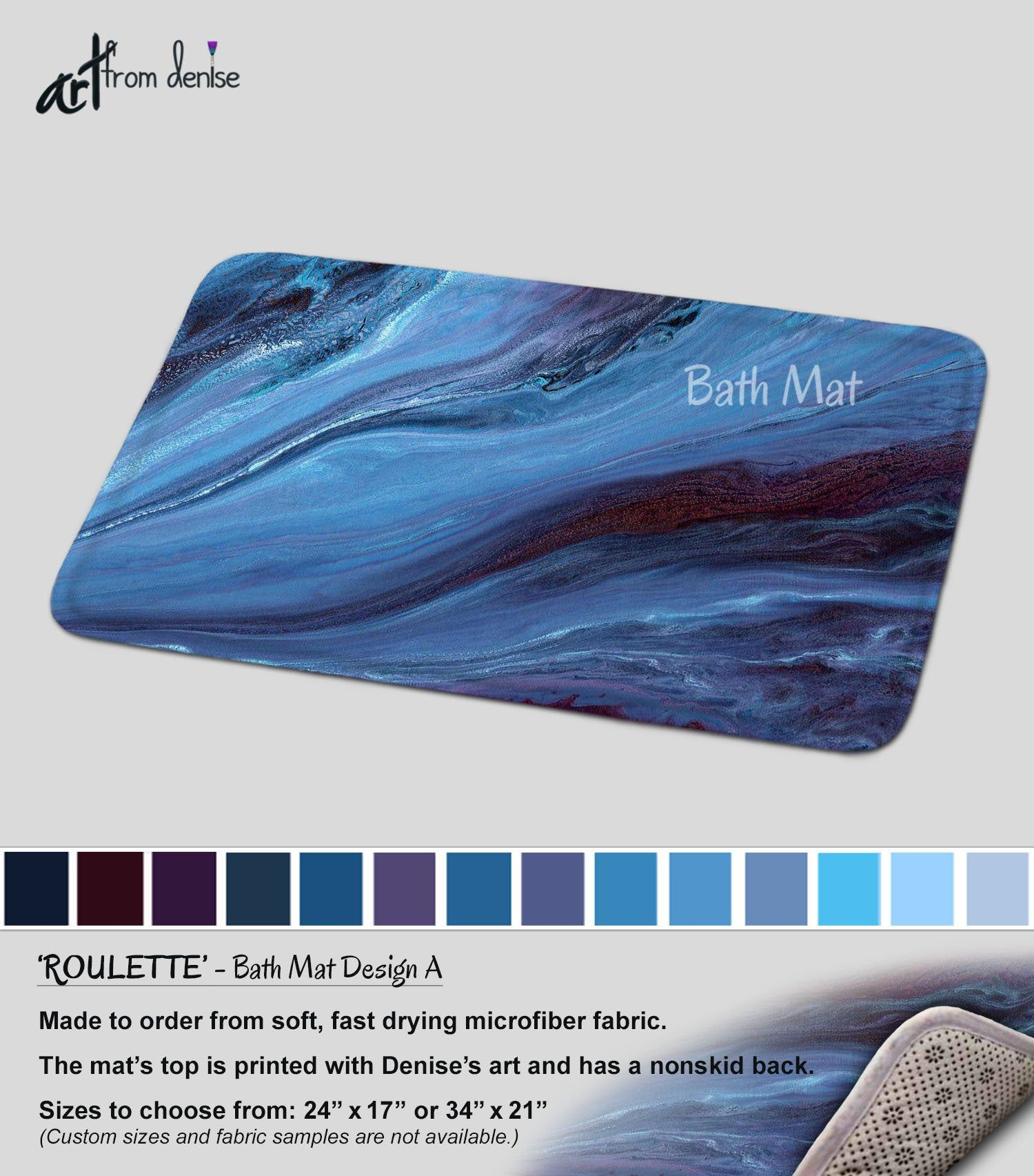 Blue Bath Mat Modern Bathroom Sets Rug Mats Or Fabric Shower