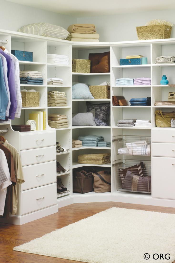 White Laminate Adjule Corner Shelving Storage System Innovate Home Org Upper Arlington Suburb Columbus Ohio