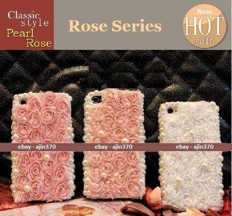 New Bling Princess Pearl Roses DIY Cell Phone I Phone 4 4S Case Deco Den Kit   eBay