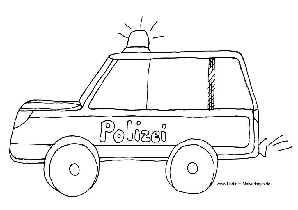 polizeiauto ausmalbild  polizei ausmalbilder actionreich