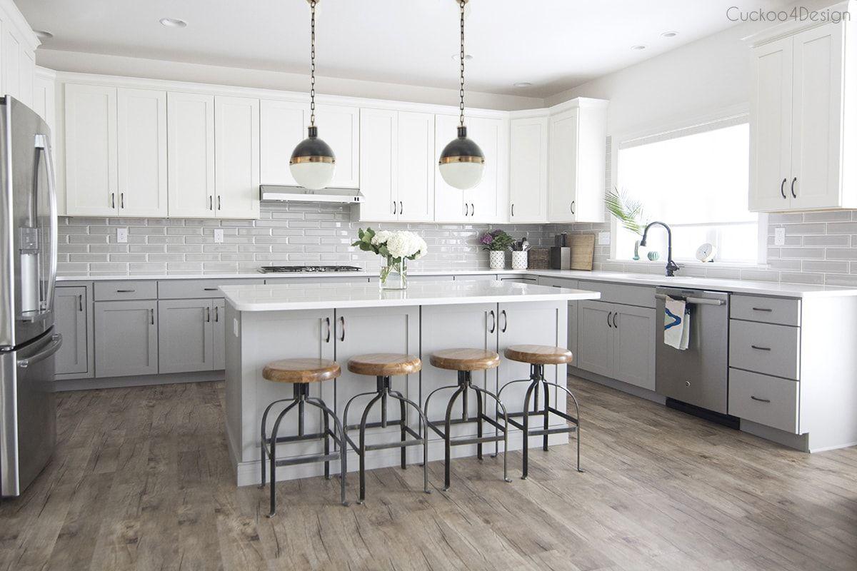 kitchen island pendant ideas  gray and white kitchen
