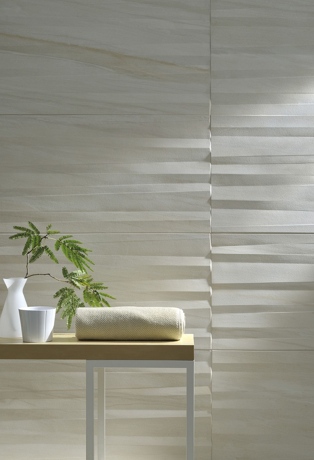 Amazing 3D wall tiles with a unusual concertina pattern ...