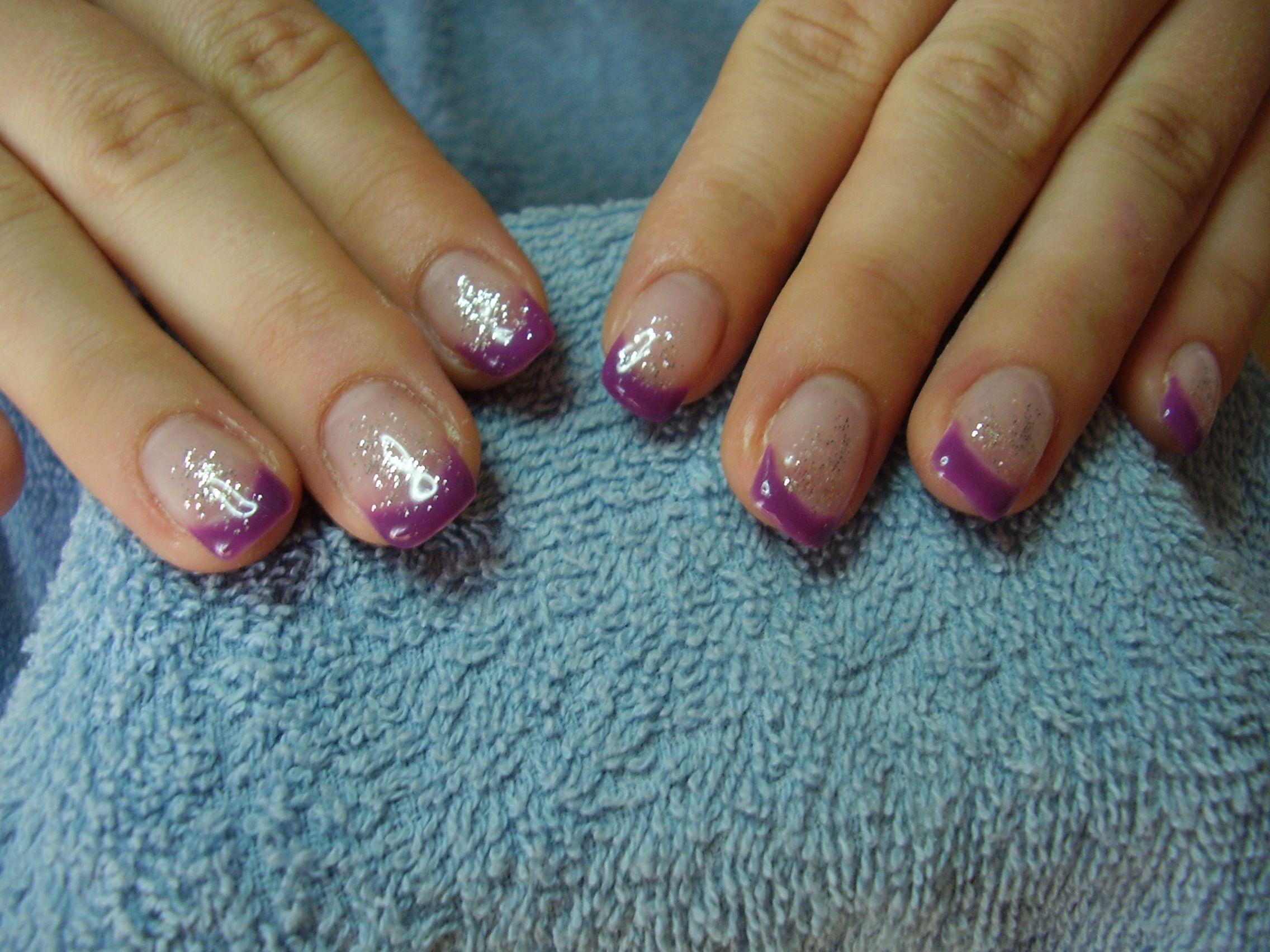 gel nails - purple
