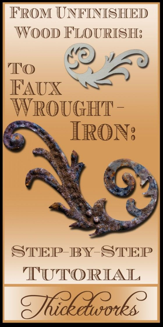 Faux Wrought Iron Technique In 2020