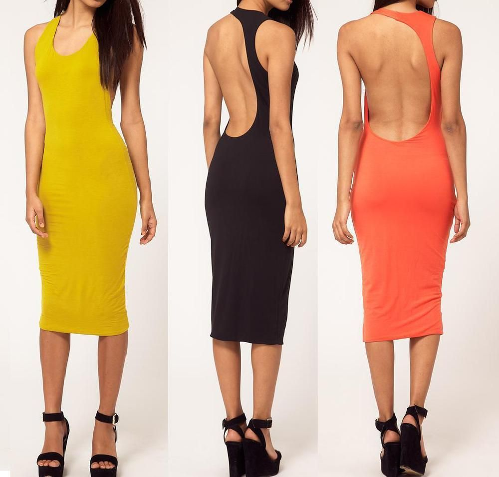 $2013 hit the collar sleeveless backless sexy figure with temperament, backing knee-length dress skirt of cultivate one's morality on EdithJewelry.com