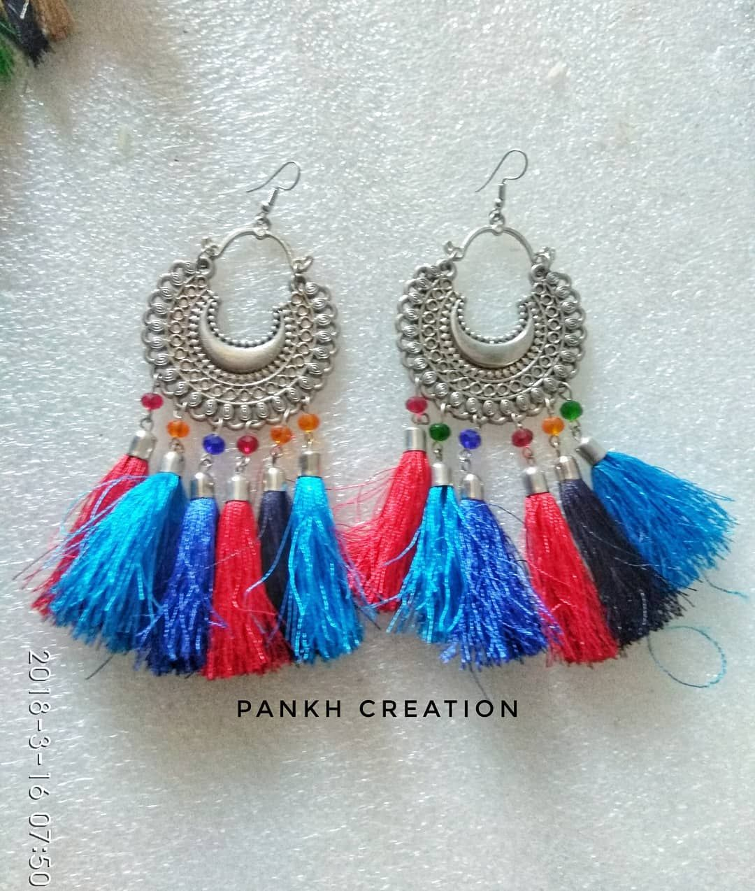 38673711e9f Tassel trend is massive for spring and summer These cuties can be customize  in any colour Dm for details . . . pankhcreation #handmade #tasselearrings  ...