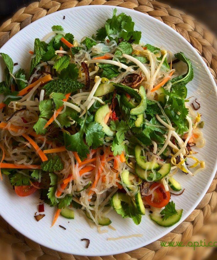 Vietnamese noodle salad with konjac noodles from opticook for Cocinar konjac
