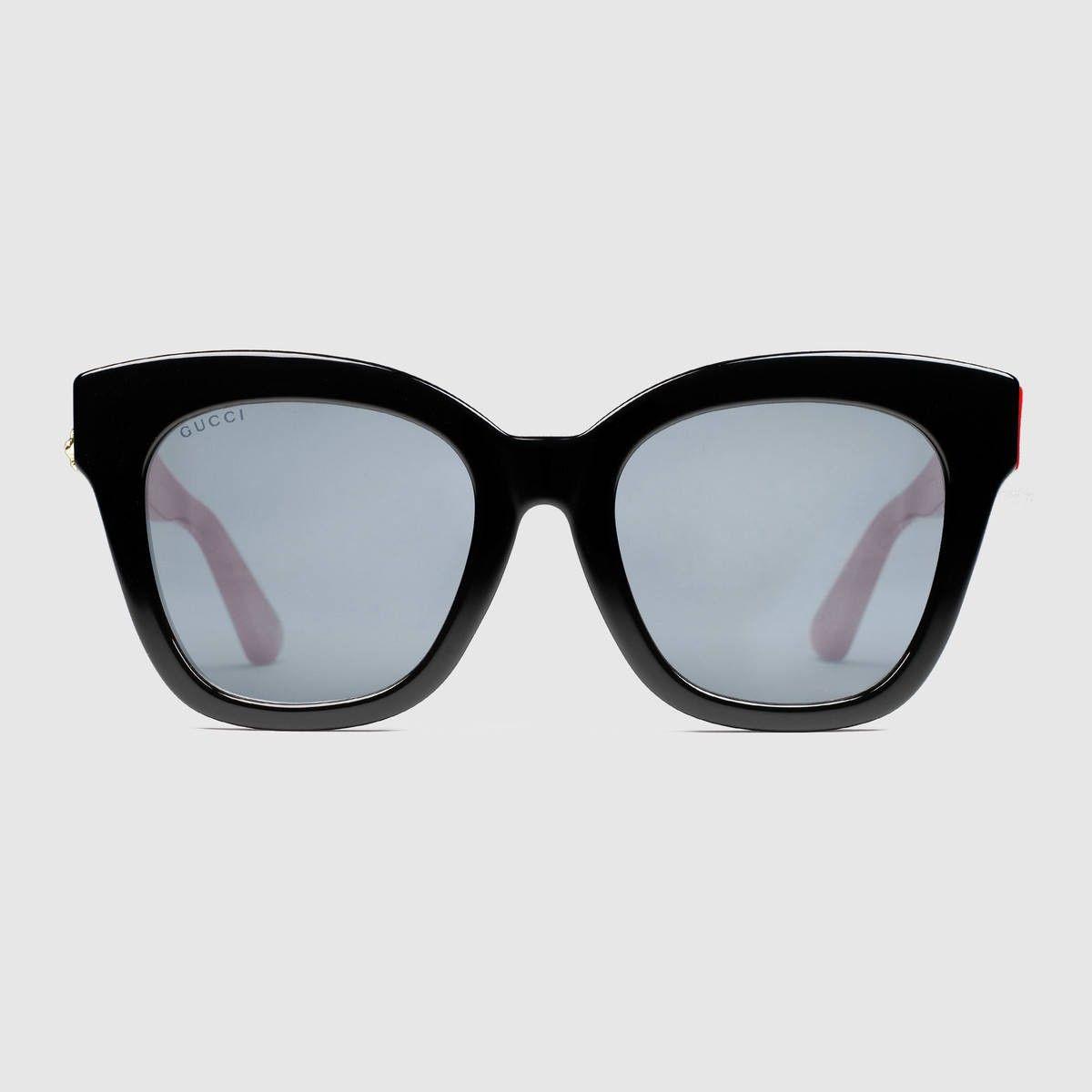 661ae06e5c4 GUCCI Specialized Fit Oversize Cat Eye Acetate Sunglasses - Black Acetate.   gucci  all
