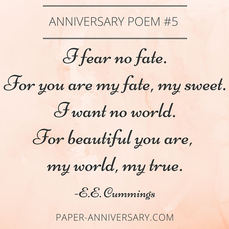 Epic Anniversary Poems For Him  Anniversary Poems Poem And