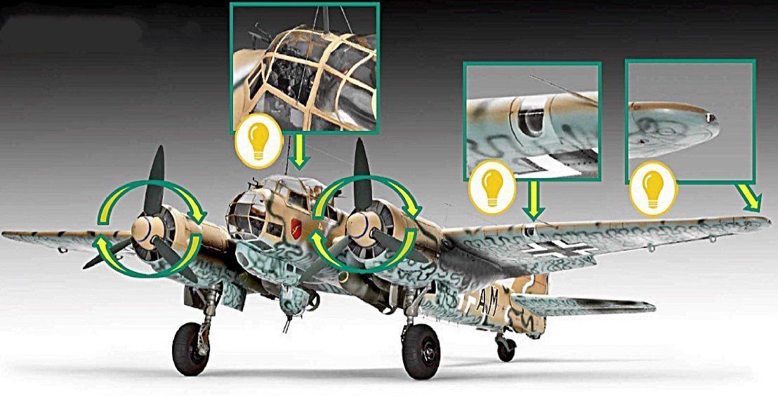 The big news for this Ju 88 kit (though it won't be cheap