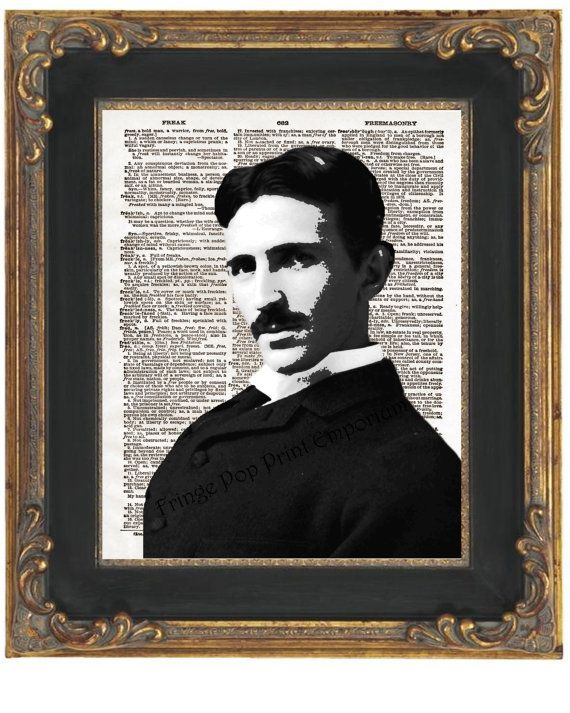 Nikola Tesla Art Print 8 x 10 Dictionary Page - Pop Art ...