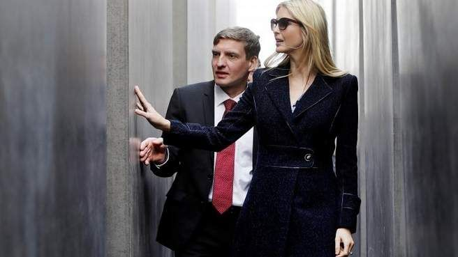 First Daughter Ivanka Trump visited Berlin's Holocaust memorial (above)  during her first international trip as an official adviser to her father,  ...