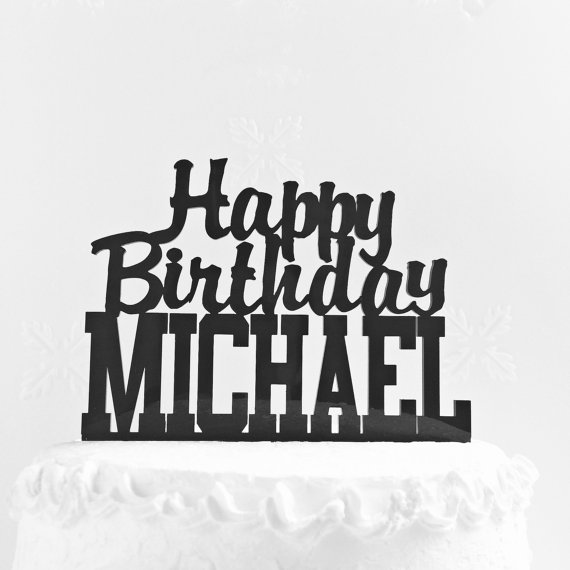 Custom Cake Topper With Any Name Personalized Birthday Happy Topp