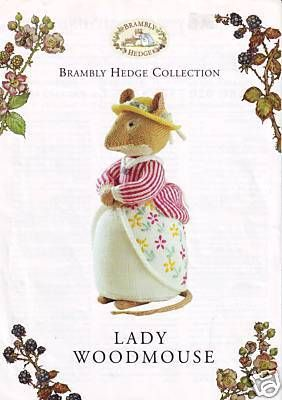 Brambly Hedge Alan Dart Knitting Pattern Lady Woodmouse Original Jill Barklem | eBay