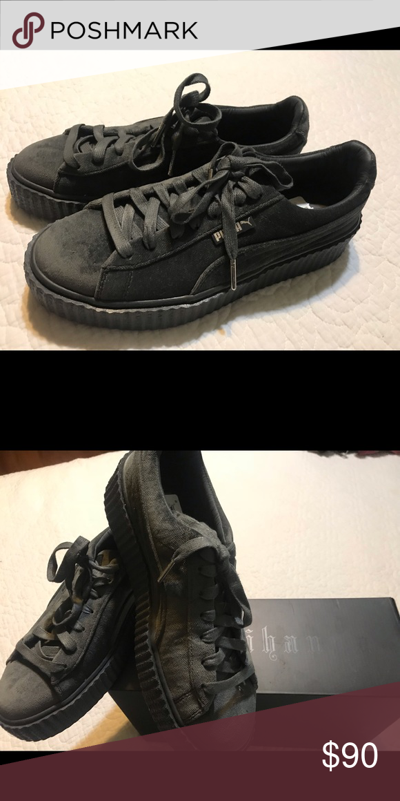 859985af977 New Pumas Fenty Creepers Puma Fenty Velvet (Glazier Gray) Creepers by  Rihanna. Brand new, in box. Women size 9 Puma Shoes Athletic Shoes