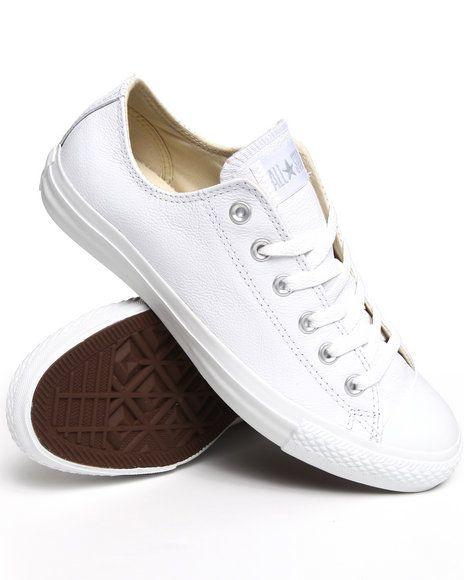 converse leather blancas