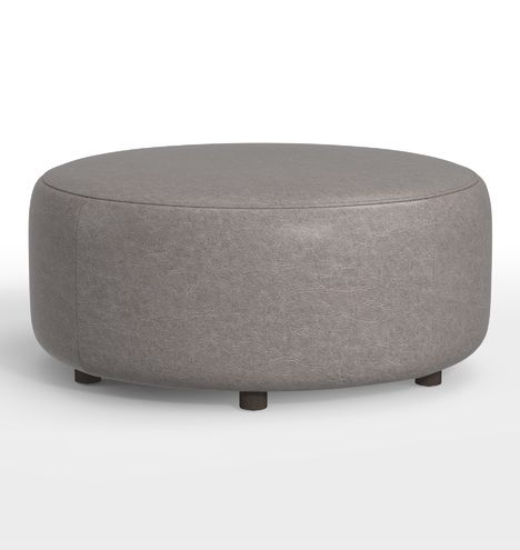 Awesome 36 Worley Round Leather Ottoman Products In 2019 Round Alphanode Cool Chair Designs And Ideas Alphanodeonline