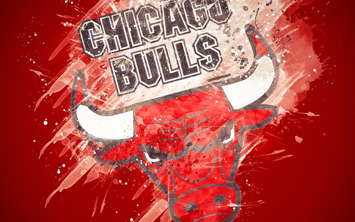 Download Wallpapers Chicago Bulls 4k Grunge Art Logo American Basketball Club Red Grunge Background Paint Splashes Nba Emblem Chicago Illinois Usa B Bulls Wallpaper Chicago Bulls Chicago Bulls Wallpaper
