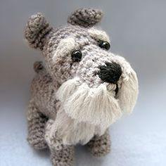 Schnauzer amigurumi crochet pattern by Cute and Kaboodle