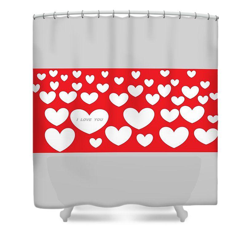 Happy Valentines Day 30 Shower Curtain