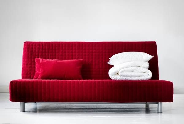 Go bold with a beddinge sofa bed shown here in genarp red living room relaxing ikea sofa - Housse beddinge ikea ...