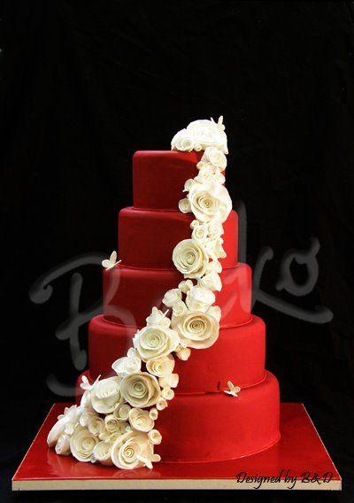 des gâteaux de mariage à dévorer des yeux | gâteau rouge, gâteau