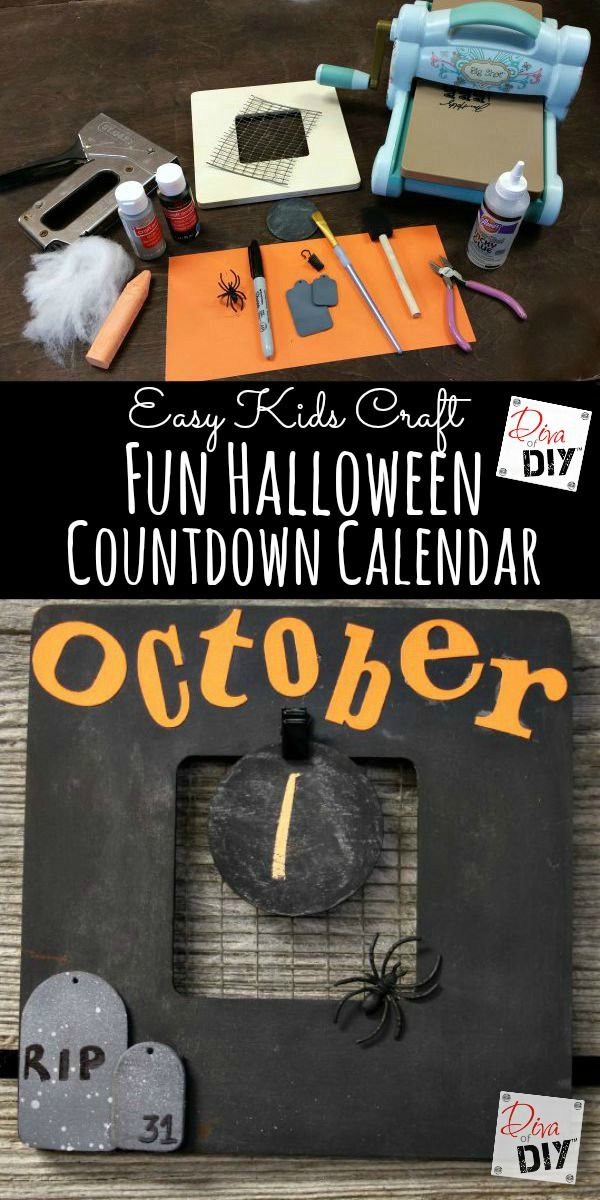 Halloween Decorations How to Make an Easy Countdown Calendar - create halloween decorations